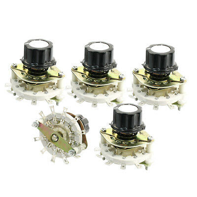 5 Pcs 9mm Threaded 12-Terminal 1P11T 1-Pole 11-Position Select Rotary Switch