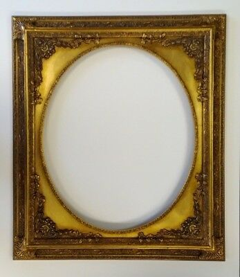 Picture Frame- Oval Vintage Antique Ornate Bright & Dark Gold Classic- 16 x 20