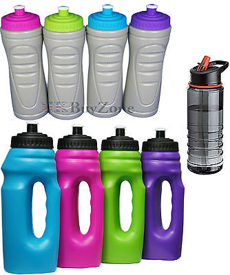 Easy Grip Water Bottle Drink Drinking Jogging Cycling Hiking Fitness Straw