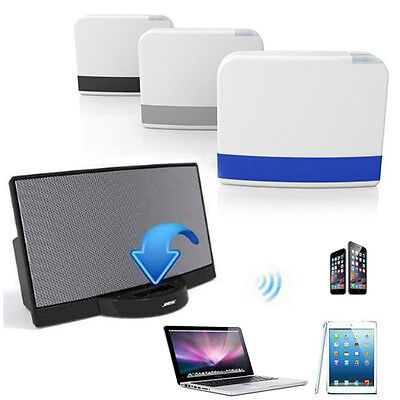 NEW 30Pin Dock Speaker Bluetooth Music Receiver Adapter For Apple iPhone iPod