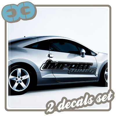 """x2 48"""" LARGE SPONSOR LOGO DECAL CAR TUNING RACING AUTO SIDE GRAPHIC HUGE STICKER"""