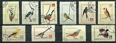 Romania 1959 Birds Complete Set Of 10 Stamps - $4.50 Value!