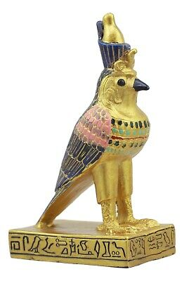 Ancient Egyptian Miniature Doll House Small Sculpture God Horus Falcon Bird 3""