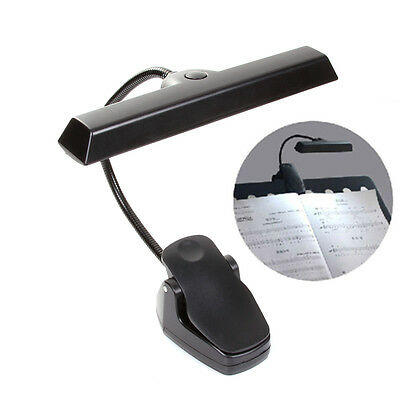 9-LED Lamp Light Clip-On Orchestra Music Piano Book Flexible Stand with Adapter