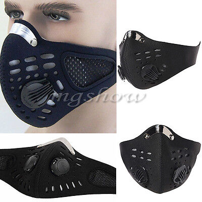 Sales Anti Dust Motorcycle Bicycle Cycling Bike Ski Half Face Mask Filter Black
