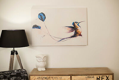 BIRD OF PARADISE Oil Painting Wall Art Canvas w Frame 90cm Modern Kids Children