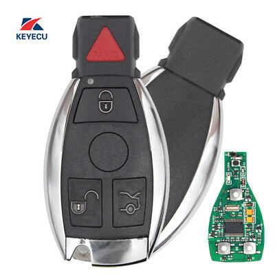 Replacement Remote Key Fob 433MHz NEC Chip for Mercedes-Benz 2000+