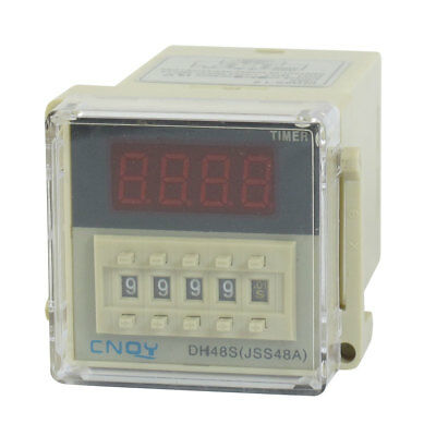 AC/DC12V SPST 8P 0.01S-9999H 4-Digit Programmable Timer Delay Relay DH48S-1Z