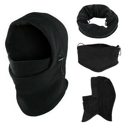 6in1 Thermal Fleece Balaclava Hood Mask Police Swat Ski Bike Winter Hat Cap Mask