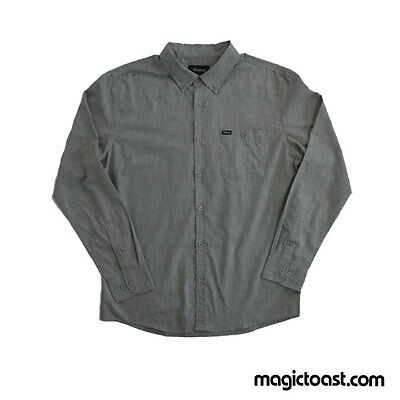 Brixton Ltd. Central L/S WVN Long Sleeve Button Up Shirt Heather Grey