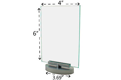 """Rotating 4"""" x 6"""" Swivel Ad Frame Menu Picture Sign Holder Table Tent Display"""