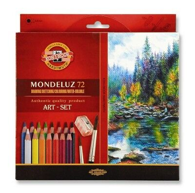Koh-I-Noor Mondeluz 3714 Color Pencil Set Aquarell 72 Art Watercolour Crayon New