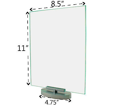 """Premium Acrylic 8.5""""W x 11""""H Rotating Table Sign Holder & Frame (Lot of 12)"""