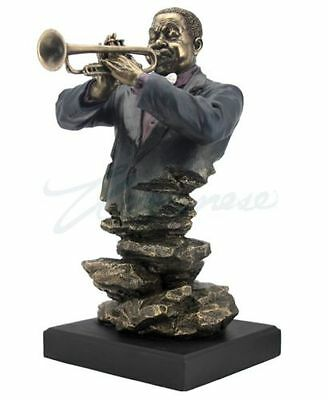 Jazz Band Collection - Trumpet Bust Sculpture Musician Statue Figurine