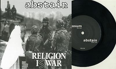"Abstain / Nasum -Split 7"" Mieszko Talarczyk Napalm Death Entombed Driller Killer"