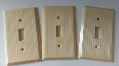 Slater 1gang 1 switch Ivory vintage plastic electrical cover plate *New* lot 3 • CAD $13.85