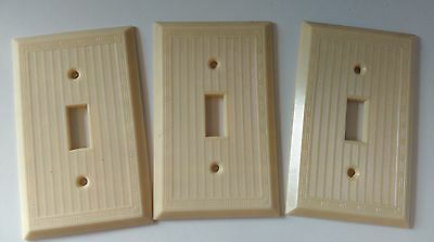 Slater 1gang 1 switch Ivory vintage plastic electrical cover plate *New* lot 3