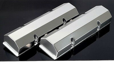 Sbc Chevy Fabricated Tall Aluminum Valve Covers No Acc. Holes # 6147