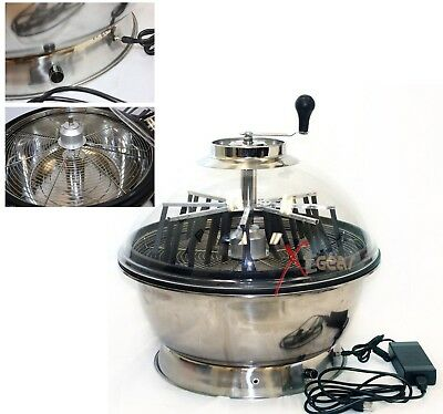 "19"" 2 in 1 Hydroponics Stainless Bowl Leaf Plant Bud Spin Twisted Trimmer"