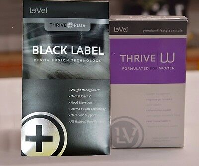 Le-Vel Thrive Women Vitamins and Black DFT Patches 30-Day Supply.