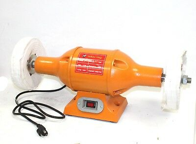 "8"" Long Shaft 1Hp Top Bench  Buffer Polisher Grinder Cleaner Heavy Duty"