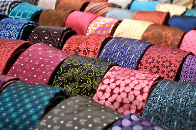 Lot 50 Pcs 100% Silk Neckties JOB Wear Neck Tie Quilting Crafting FREE SHIP