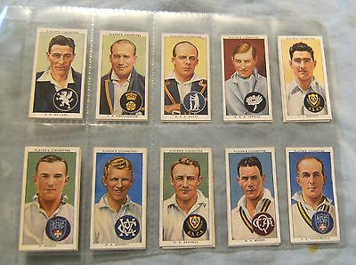 #d199.  Set Of Fifty 1938 Cricket Cigarette Cards - Cricketers 1938