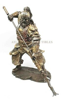 Shu Han Tiger General Zhang Fei Romance of The Three Kingdom Figurine Statue