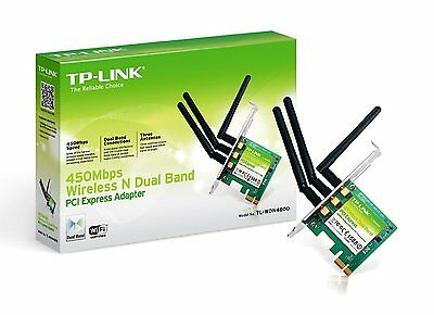 TP Link 450Mbps Dual Band Wireless PCI Express Wifi Adapter TL-WDN4800