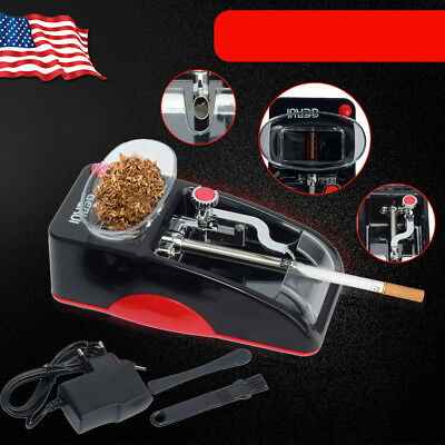 Red Cigarette Rolling Machine Electric Automatic Injector Maker Tobacco Roller