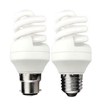 Pack Of 4 CFL Low Energy Saving Lamp Spiral Bulbs ES BC 9W 11W 15W 20W