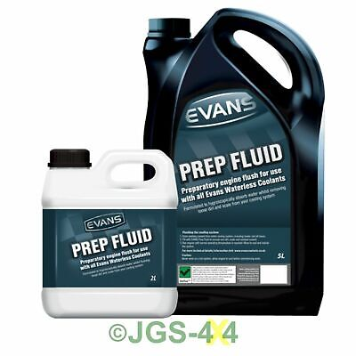 Evans Waterless Coolant Prep Fluid Engine Flush For All Cars (7 Litres)