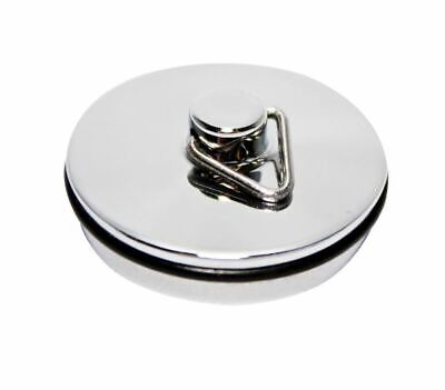 Chrome Bath/Sink Plug 1 1/2 Inch - 1 3/4 Inch With Or Without Chain