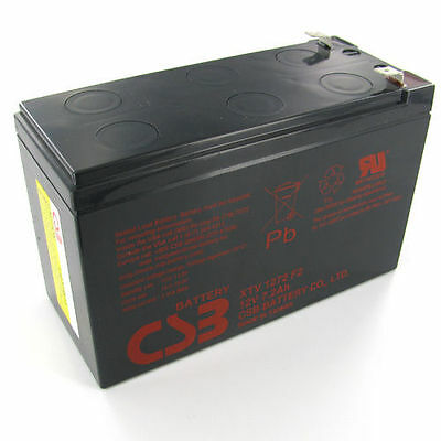 CSB 12v 7.2Ah Sealed Lead Acid Battery GP1272F1 OEM Replacement for APC Back-UPS