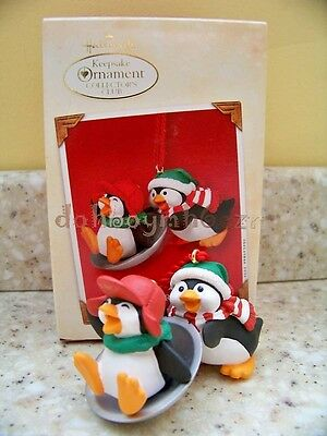Hallmark 2002 Having Fun With Friends Penguin Christmas Ornament