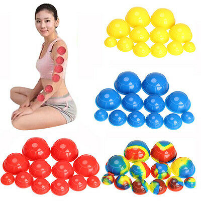 12pcs Mini Soft Silicone Travel Medical Vacuum Massage Cupping Cups Health Care