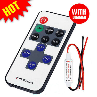 12V RF Wireless Remote Switch LED Controller Dimmer Caravan For Mini Strip Light