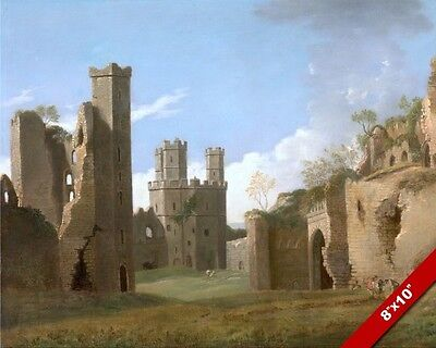 Caernarfon Castle Ruins Wales Welsh Landscape Painting British Art Canvas Print