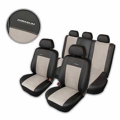 Car Seat Covers Protectors for Nissan Qashqai Black Light Gray Front & Rear