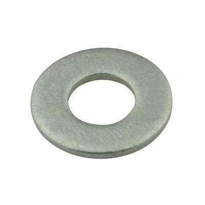 Qty 100 Flat Heavy Washer M10 (10mm) x 22.5mm x 2mm Galvanised HDG Galv Round