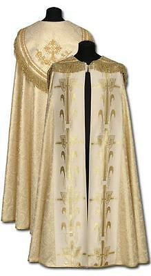 New GOLDEN - CREAM EMBROIDERED CAPE, Priest Vestments Catholic #441
