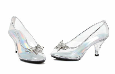 Morris Costumes Women's Princess Metallic Butterfly Glass Slipper Shoes. HA305C7