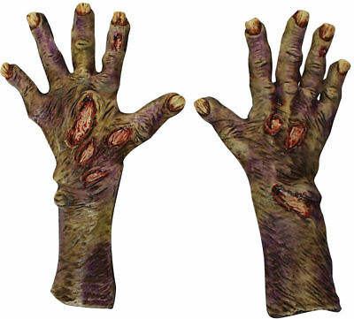 Morris Costumes Zombie Rotted Latex Gloves L. TB25319