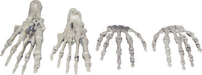 Morris Costumes Haunted House Plastic Skeleton Hands And Feet Prop. SS88536