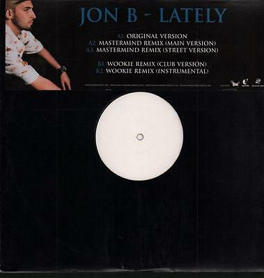 "Jon B(12"" Vinyl)Lately-Sanctuary-SANTP357-UK-M/M"