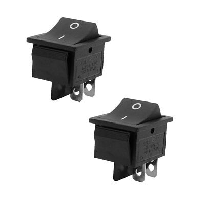 16A 250VAC 20A 125VAC 4 Pin DPST ON/OFF Panel Mounting Boat Rocker Switch Pair