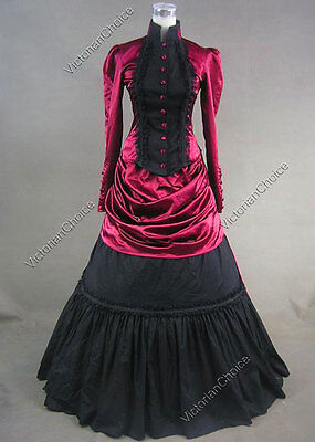 Steampunk Edwardian Vampire Riding Habit Bustle Dress Halloween Costume 139
