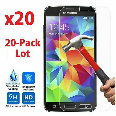 20x Wholesale Lot Tempered Glass Screen Protector for Samsung Galaxy S5