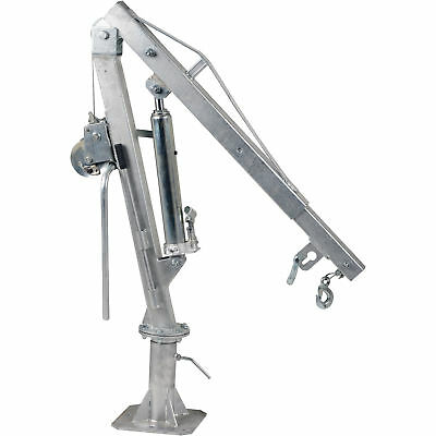 Vestil Galvanized Winch Truck Jib Crane- Extended: 1000 lbs./Retracted 2000 lbs.