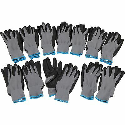 Ironton Nitrile- Coated Gloves- 12 Pairs